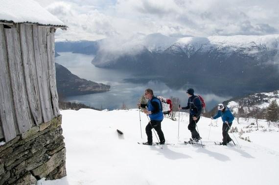 På ski med utsikt